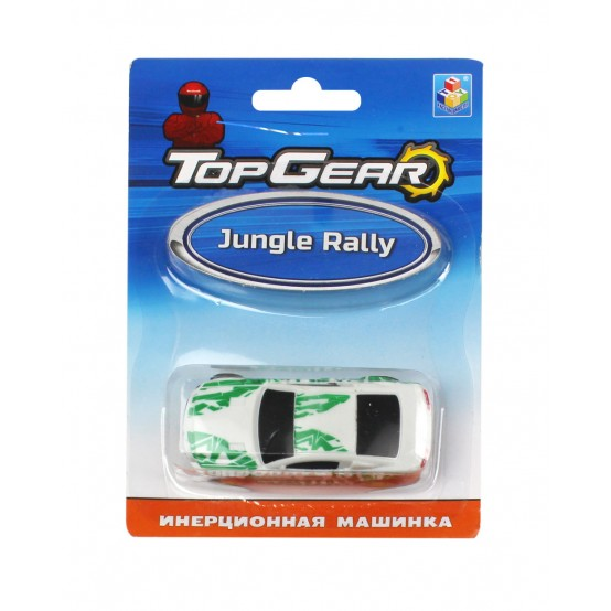 1TOY Top Gear пласт. машинка Jungle Rally, инерц. блистер