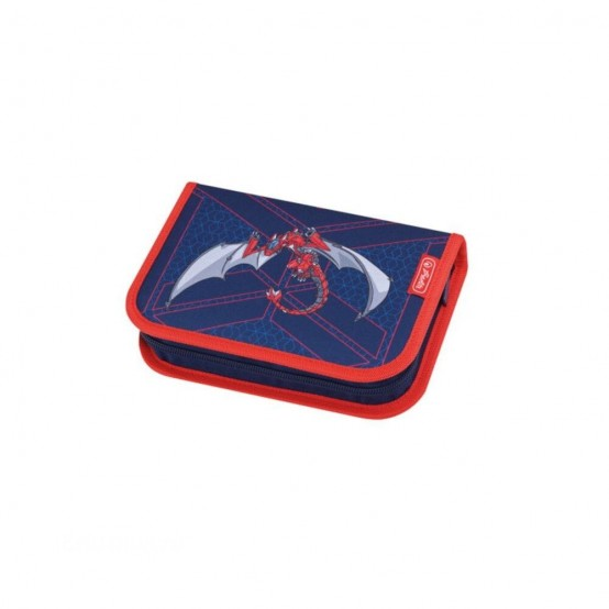 Ранец для школы Herlitz LOOP PLUS Red Robo Dragon, с наполнением - 50013869