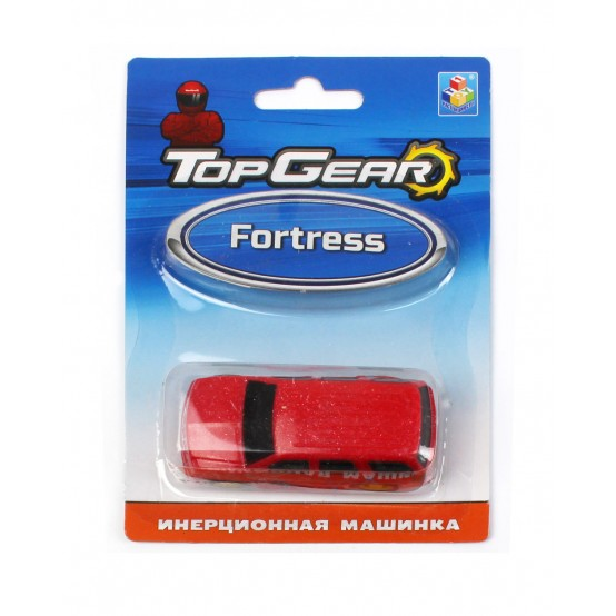 1TOY Top Gear пласт. машинка Fortress, инерц. блистер